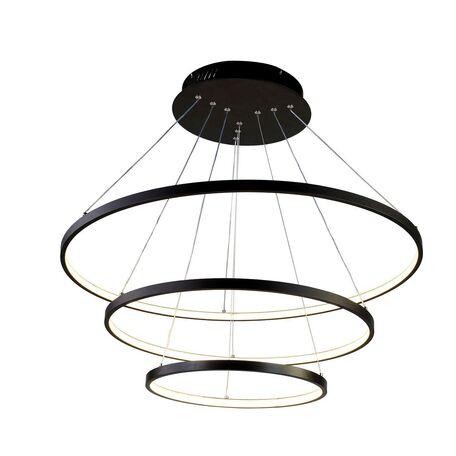 Подвесной светодиодный светильник Favourite Giro 1764-18P, LED 146W, черный, металл, металл с пластиком, пластик