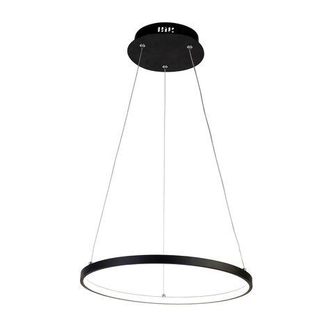 Подвесной светодиодный светильник Favourite Giro 1764-4P, LED 32W, черный, металл, металл с пластиком, пластик