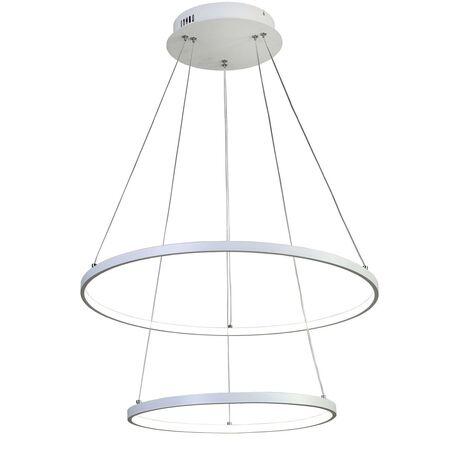 Подвесной светодиодный светильник Favourite Giro 1765-10P, LED 80W, белый, металл, металл с пластиком, пластик