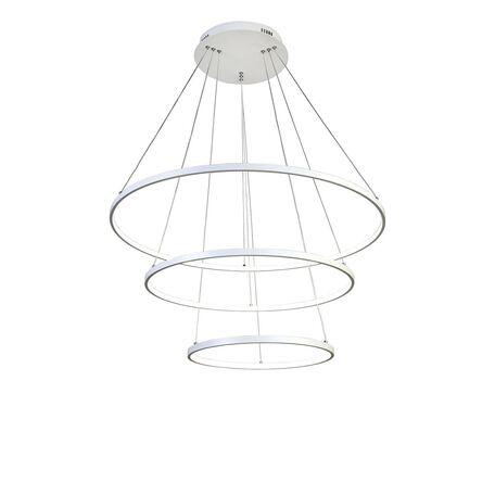 Подвесной светодиодный светильник Favourite Giro 1765-18P, LED 146W, белый, металл, металл с пластиком, пластик