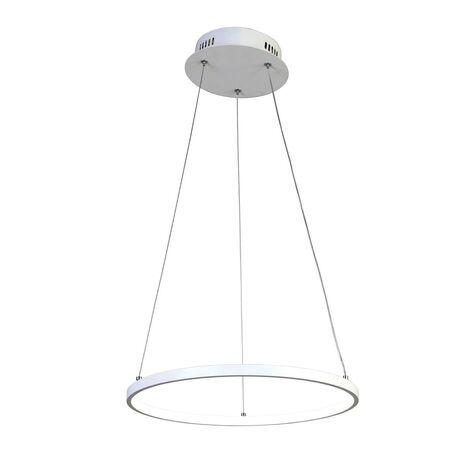 Подвесной светодиодный светильник Favourite Giro 1765-4P, LED 32W, белый, металл, металл с пластиком, пластик