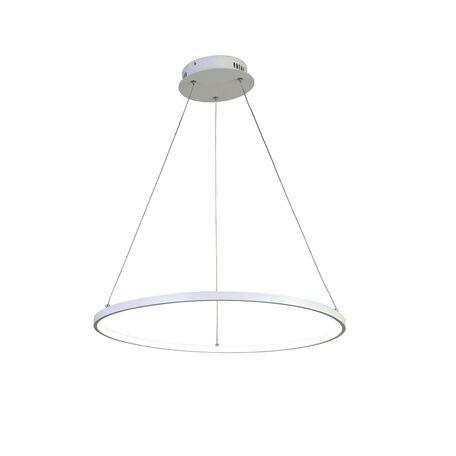 Подвесной светодиодный светильник Favourite Giro 1765-6P, LED 48W, белый, металл, металл с пластиком, пластик