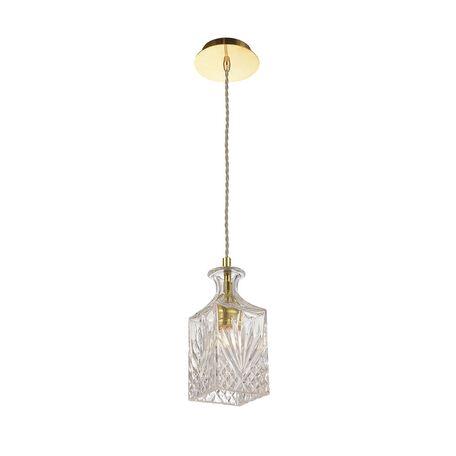 Подвесной светильник Favourite Bottle 1855-1P, 1xE27x60W, золото, прозрачный, металл, стекло