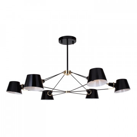 Потолочная люстра Favourite Eimer 1512-6P, 6xE14x40W, черный, металл