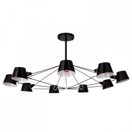 Потолочная люстра Favourite Eimer 1512-9P, 9xE14x40W, черный, металл