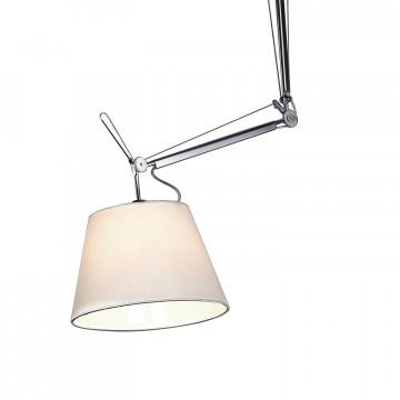 Потолочный светильник на складной штанге Favourite Phantom 1867-1P, 1xE27x60W, серебро, белый, металл, текстиль - миниатюра 3