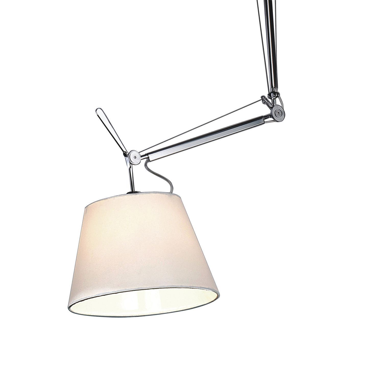 Потолочный светильник на складной штанге Favourite Phantom 1867-1P, 1xE27x60W, серебро, белый, металл, текстиль - фото 3