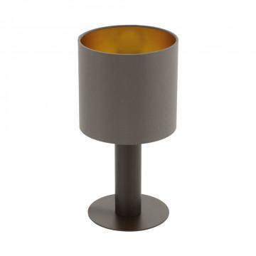 Настольная лампа Eglo Concessa 1 97686, 1xE27x60W, коричневый, металл, текстиль