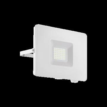 Светодиодный прожектор Eglo Faedo 3 33154, IP65, LED 30W 5000K 2750lm, белый, металл, металл со стеклом, стекло
