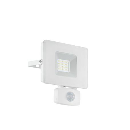Светодиодный прожектор Eglo Faedo 3 33157, IP44, LED 20W 5000K 1800lm, белый, металл, металл со стеклом, стекло