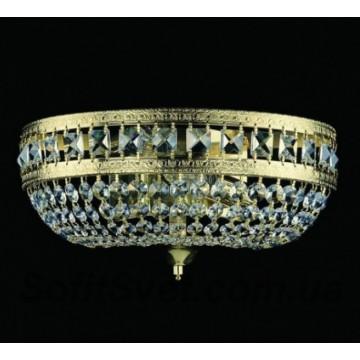 Бра Artglass IVONA FULL CUT CE, 2xE14x40W, золото, прозрачный, металл, хрусталь Artglass Crystal Exclusive