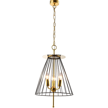 Светильник Crystal Lux MODESTO SP3 BLACK/GOLD 0971/203, 3xE14x60W