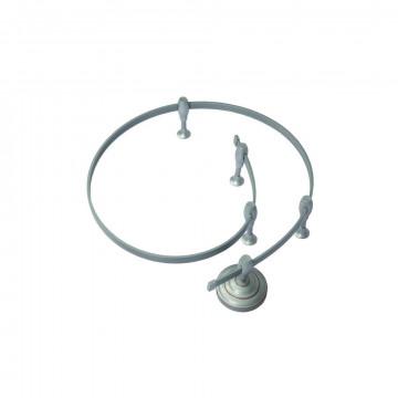 Гибкий токопровод в сборе с комплектующими Arte Lamp Instyle A520027, серебро, металл