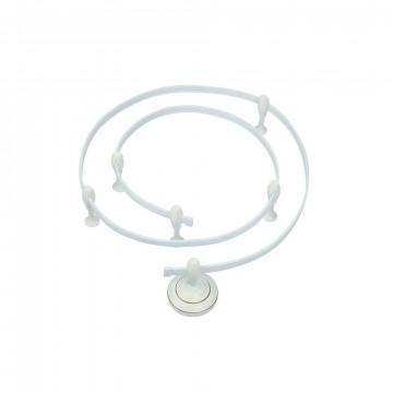 Гибкий токопровод в сборе с комплектующими Arte Lamp Instyle A530033, белый, металл