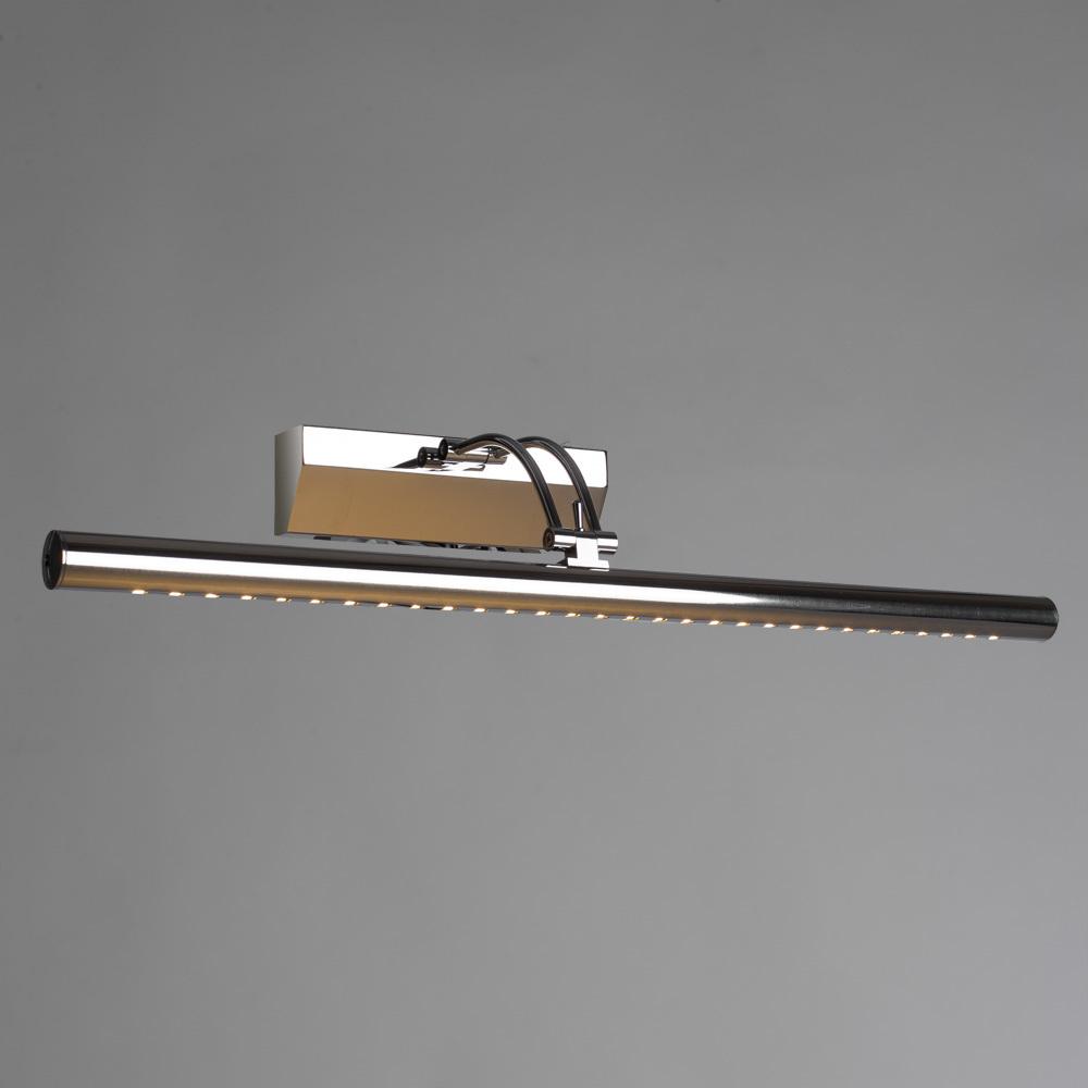 Настенный светодиодный светильник для подсветки картин Arte Lamp Picture Lights LED A1107AP-1CC, LED 7W 3000K 455lm CRI≥70, хром, металл - фото 2