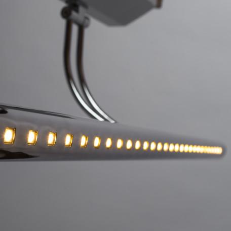 Настенный светодиодный светильник для подсветки картин Arte Lamp Picture Lights LED A1107AP-1CC, LED 7W 3000K 455lm CRI≥70, хром, металл - миниатюра 4