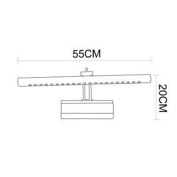 Схема с размерами Arte Lamp A1107AP-1CC