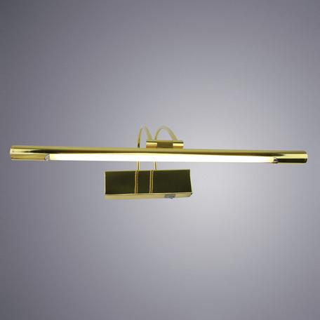 Настенный светильник для подсветки картин Arte Lamp Picture Lights LUM A3068AP-1GO, 1xG5T4x8W, золото, металл