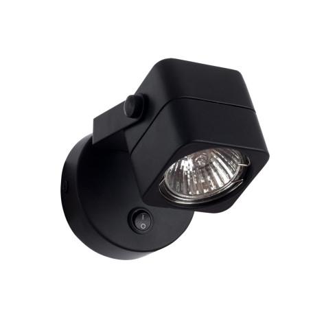 Настенный светильник с регулировкой направления света Arte Lamp Lente A1314AP-1BK, 1xGU10x50W, черный, металл