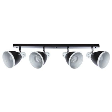 Настенный светильник с регулировкой направления света Arte Lamp Marted A2215PL-4BK, 4xE27x40W, белый, черный, металл