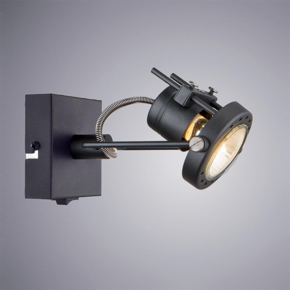 Настенный светильник с регулировкой направления света Arte Lamp Costruttore A4300AP-1BK, 1xGU10x50W, черный, металл - фото 1