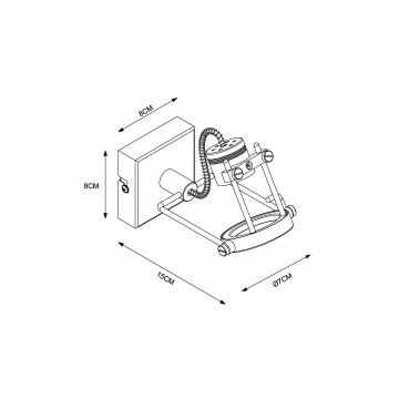 Схема с размерами Arte Lamp A4300AP-1BK