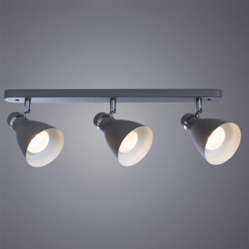Настенный светильник с регулировкой направления света Arte Lamp Mercoled A5049PL-3GY, 3xE27x40W, серый, металл - миниатюра 2