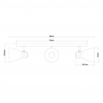 Схема с размерами Arte Lamp A5049PL-3GY