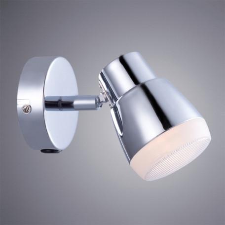 Настенный светодиодный светильник с регулировкой направления света Arte Lamp Cuffia A5621AP-1CC, LED 5W 3000K 360lm CRI≥80, хром, металл, пластик