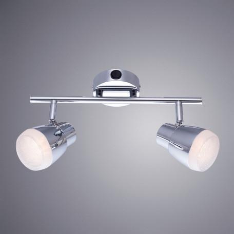 Настенный светодиодный светильник с регулировкой направления света Arte Lamp Cuffia A5621AP-2CC, LED 10W 3000K 720lm CRI≥80, хром, металл, пластик