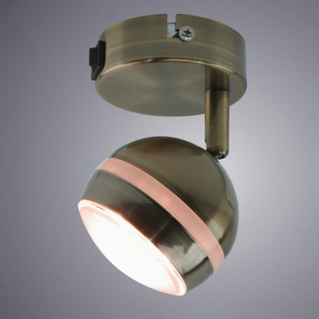 Настенный светодиодный светильник с регулировкой направления света Arte Lamp Venerd A6009AP-1AB, LED 5W 3000K 400lm CRI≥70, бронза, металл, пластик