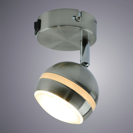 Настенный светодиодный светильник с регулировкой направления света Arte Lamp Venerd A6009AP-1SS, LED 5W 3000K 400lm CRI≥70, серебро, металл, пластик