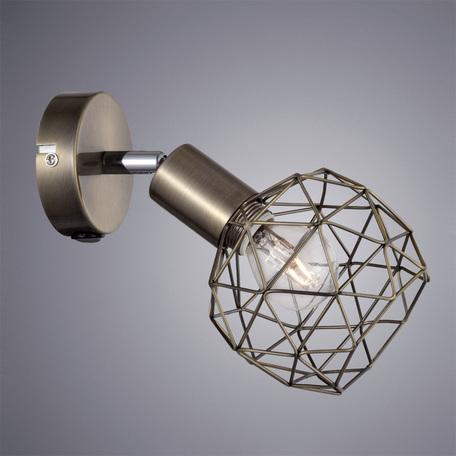 Настенный светильник с регулировкой направления света Arte Lamp Sospiro A6141AP-1AB, 1xE14x40W, бронза, металл