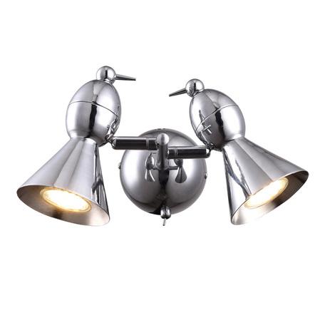 Настенный светильник с регулировкой направления света Arte Lamp Picchio A9229AP-2CC, 2xGU10x50W, хром, металл