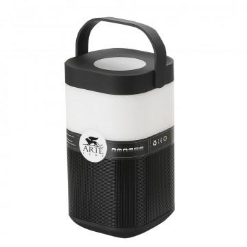 Музыкальный настольная светодиодная лампа Arte Lamp Music Band A2005LT-1BK, LED 5W RGB 200lm CRI≥70, черный, черно-белый, пластик
