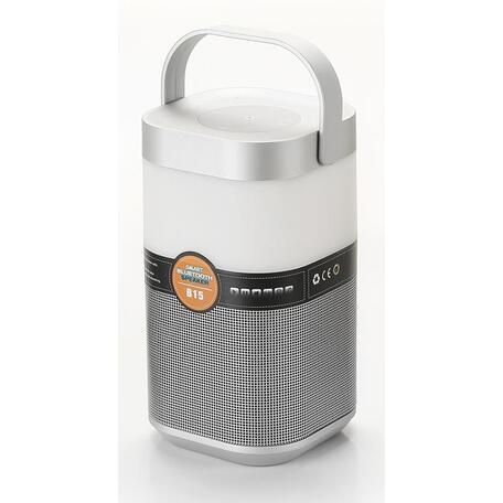 Музыкальный настольная светодиодная лампа Arte Lamp Music Band A2005LT-1SI, LED 5W, RGB, серебро, черный, пластик - миниатюра 1