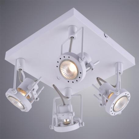 Потолочная люстра с регулировкой направления света Arte Lamp Costruttore A4300PL-4WH, 4xGU10x50W, белый, металл