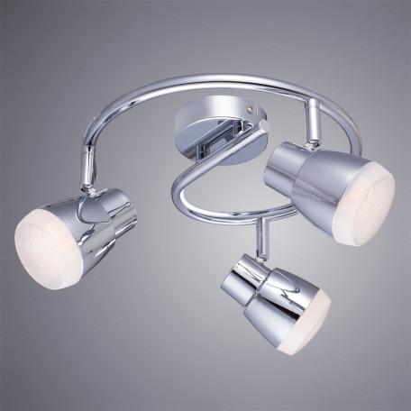 Потолочная светодиодная люстра с регулировкой направления света Arte Lamp Cuffia A5621PL-3CC, LED 15W 3000K 1080lm CRI≥80, хром, металл, пластик
