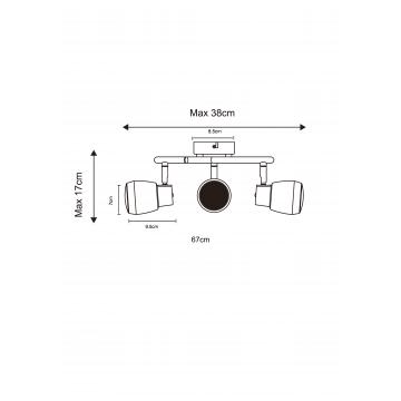 Схема с размерами Arte Lamp A5621PL-3CC