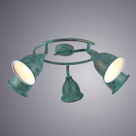 Потолочная люстра с регулировкой направления света Arte Lamp Campana A9557PL-5BG, 5xE14x40W, бирюзовый, металл