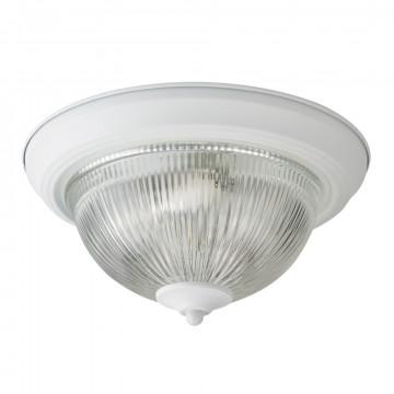 Потолочный светильник Arte Lamp Aqua A9370PL-2WH, IP44, 2xE14x60W, белый, прозрачный, металл, стекло