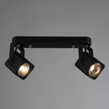 Потолочный светильник с регулировкой направления света Arte Lamp Lente A1314PL-2BK, 2xGU10x50W, черный, металл