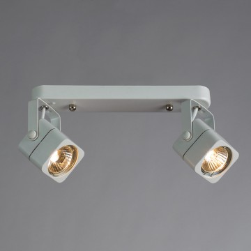 Потолочный светильник с регулировкой направления света Arte Lamp Lente A1314PL-2WH, 2xGU10x50W, белый, металл