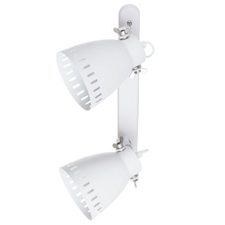 Потолочный светильник с регулировкой направления света Arte Lamp Luned A2214AP-2WH, 2xE27x40W, белый, металл