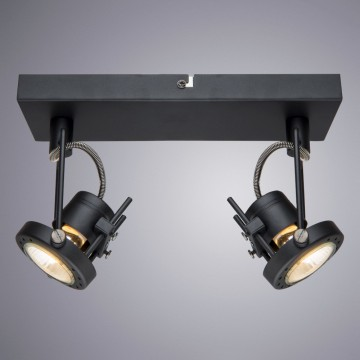 Потолочный светильник с регулировкой направления света Arte Lamp Costruttore A4300AP-2BK, 2xGU10x50W, черный, металл