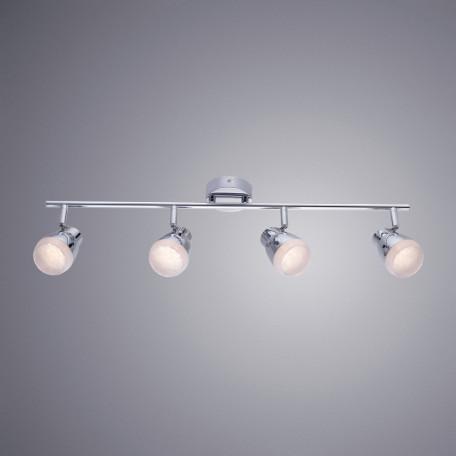 Потолочный светодиодный светильник с регулировкой направления света Arte Lamp Cuffia A5621PL-4CC, хром, белый, металл, пластик