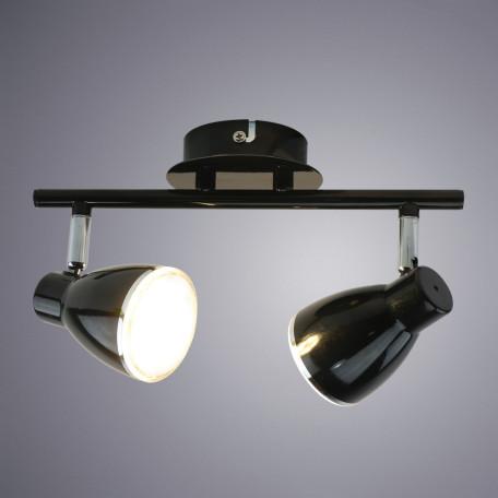 Потолочный светодиодный светильник с регулировкой направления света Arte Lamp Gioved A6008PL-2BK, 3000K (теплый), хром, черный, металл