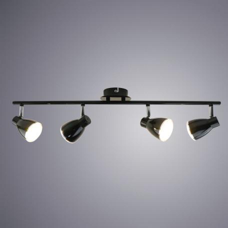 Потолочный светодиодный светильник с регулировкой направления света Arte Lamp Gioved A6008PL-4BK, 3000K (теплый), хром, черный, металл