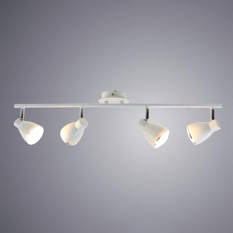 Потолочный светодиодный светильник с регулировкой направления света Arte Lamp Gioved A6008PL-4WH 3000K (теплый), белый, хром, металл