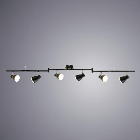 Потолочный светодиодный светильник с регулировкой направления света Arte Lamp Gioved A6008PL-6BK, LED 30W 3000K (теплый), черный, металл